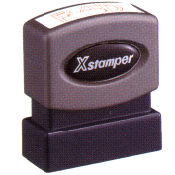 Xstamper Pre-Inked Two-Color Stock Title Stamp