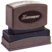Xstamper Pre-Inked One-Color Jumbo Stock Title Stamp