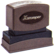 Xstamper Pre-Inked Two-Color Jumbo Stock Title Stamp